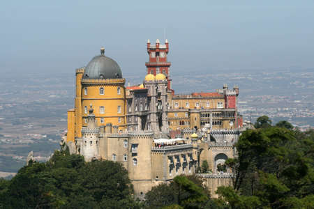 pena: Castle of Sintra Stock Photo