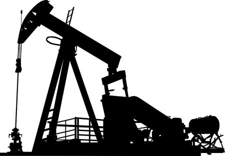 exploitation: Figure dun ptrole wells with pumping system Illustration