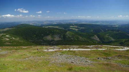 2017 Czech Republic Sudety Range, Giant Mountains. The path at the foot of Wierzcho?ka ?nie?ka Zdjęcie Seryjne