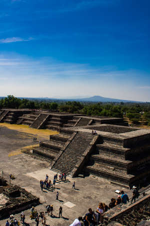 Temple of ceremonies in Teotihuacan, Mexico