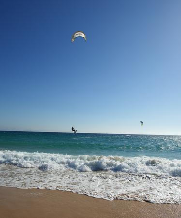 kite surf on the Mediterranean