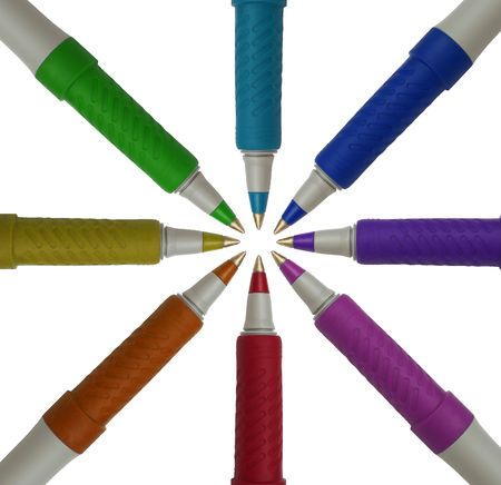 8 pens in a circle