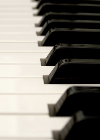 close up of piano keys Stock Photo - 416995