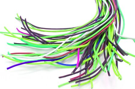 A bunch of colorful cables