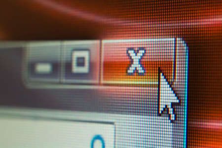 Mouse Cursor on LCD Screen. Shallow DOF. Focus on the Cursor. photo