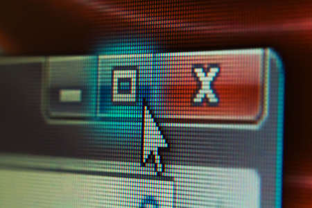 Mouse Cursor on LCD Screen. Shallow DOF. Focus on the Cursor.