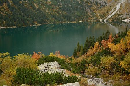 morskie: Morskie Oko in Tatra Mountains. poland, autumn
