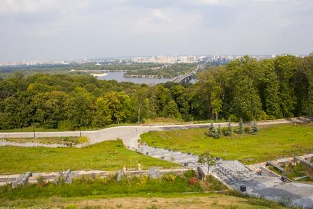 Kyiv-Pechersk Lavra river view Stock Photo