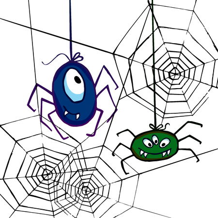 araignées et toiles helloween drôles