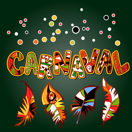 carnival design with feathers
