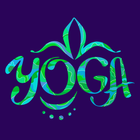 Hand drawing lettering yoga