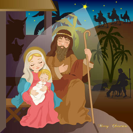 Nativity with Shepherd and Magi