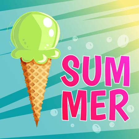 Ice cream summer card