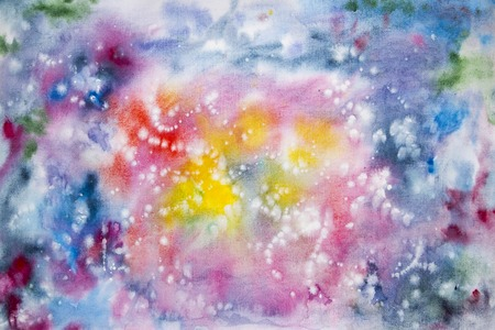Abstract watercolor art hand paint. Watercolor background Stock Photo