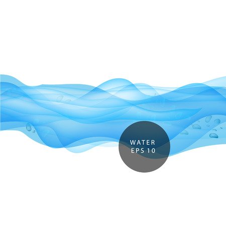 water: Water wave background, water drops transparent. Illustration
