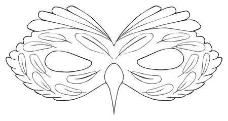 antioxidant: Mask of Bird with a cirrus on white background in the Happy holiday collection