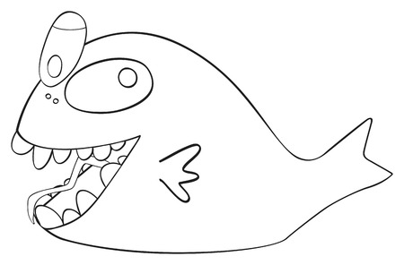prank: Figure of April fish Crazy on white background in the Happy holiday collection