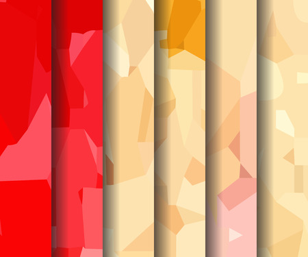 watercolour: Set of red-yellow polygonal patterns in the Watercolour pattern collection