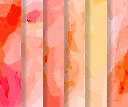 watercolour: Set of orange-red polygonal patterns in the Watercolour pattern collection