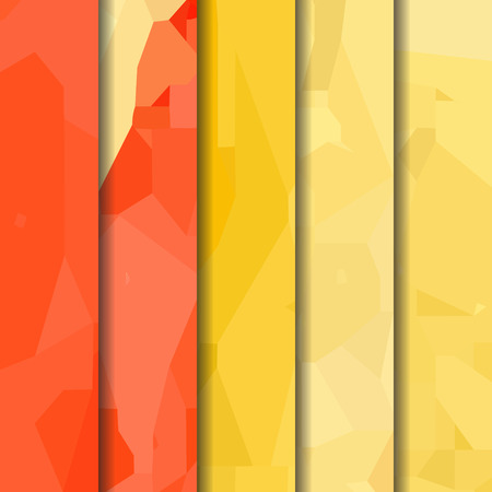 watercolour: Set of yellow-red polygonal patterns in the Watercolour pattern collection