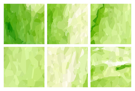 watercolour: Set of green polygonal patterns in the Watercolour pattern collection
