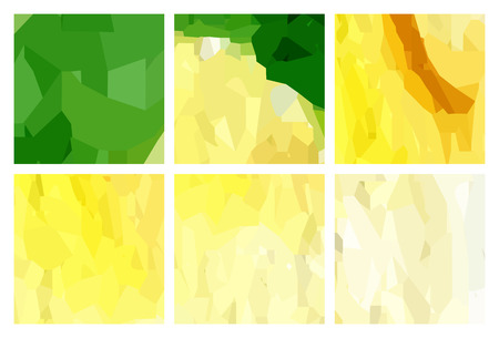 watercolour: Set of green-yellow polygonal patterns in the Watercolour pattern collection Illustration