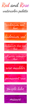 watercolour: Red and rose watercolor palette in the Watercolour pattern collection