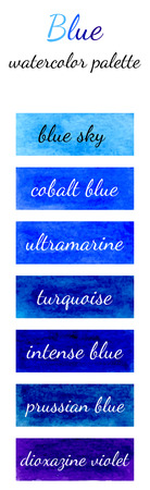 Blue watercolor palette in the Watercolour pattern collection