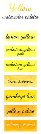watercolour: Yellow watercolor palette in the Watercolour pattern collection