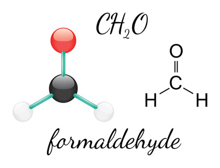 H2CO formaldehyde 3d molecule isolated on white