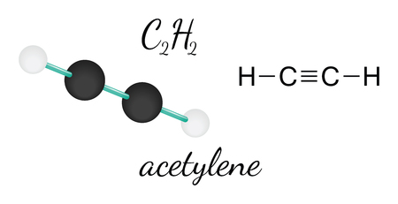 C2H2 acetylene 3d molecule isolated on white