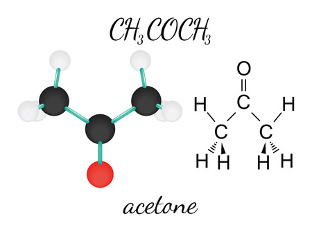 CH3COCH3 acetone 3d molecule isolated on white
