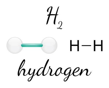 HIDROGENO: H2 hidrógeno 3d molécula aislada en blanco