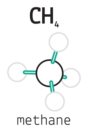 hydride: CH4 methane 3d molecule isolated on white