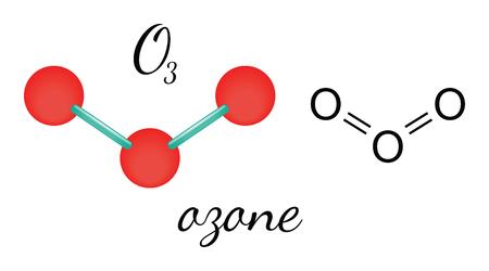 ozone: O3 ozone 3d molecule isolated on white