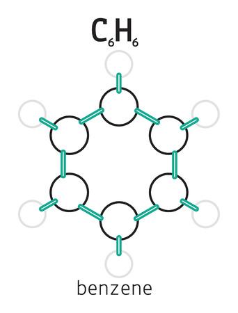 benzene: C6H6 benzene 3d molecule isolated on white
