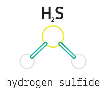 HIDROGENO: H2S sulfuro de hidrógeno 3d molécula aislada en blanco