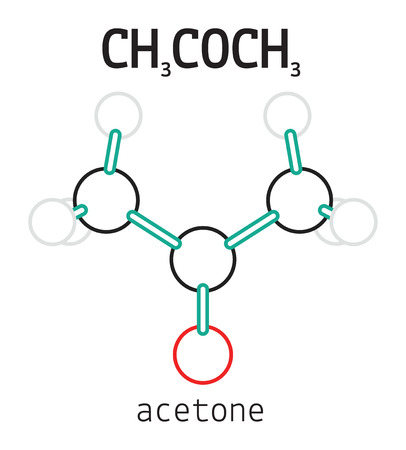 CH3COCH3 acetone 3d molecule isolated on white Stock Vector - 51563231