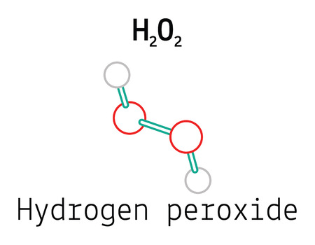 H2O2 hydrogen peroxide 3d molecule isolated on white
