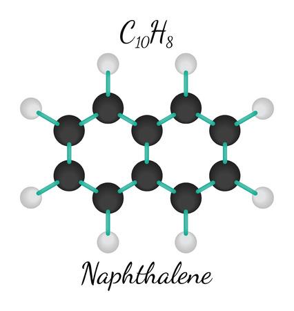 C10H8 naphthalene 3d molecule isolated on white