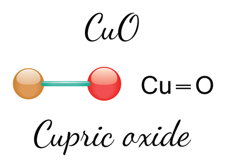 oxide: CuO cupric oxide 3d molecule isolated on white