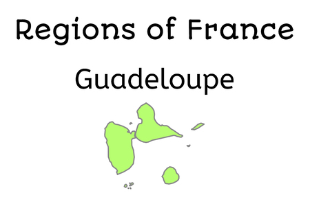 guadeloupe: France administrative map of Guadeloupe region on white