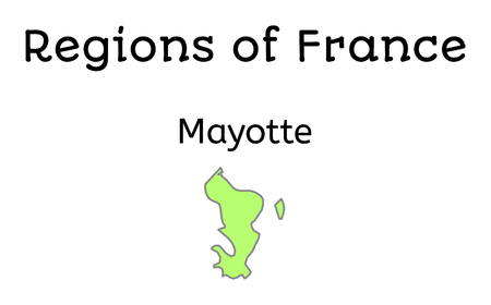geographical: France administrative map of Mayotte region on white Illustration