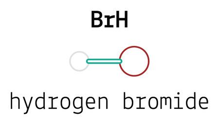 hidrogeno: HBr bromuro de hidr�geno de la mol�cula 3D aislado en blanco