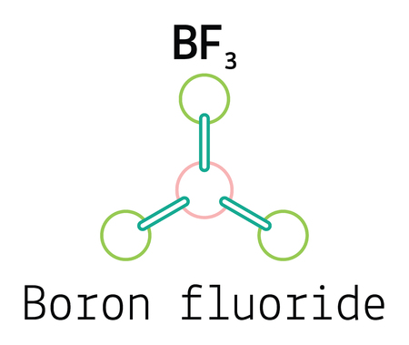 fluoride: BF3 boron fluoride 3d molecule isolated on white
