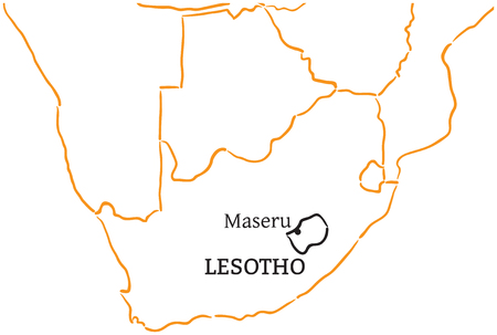 Lesotho country with its capital maseru in africa hand drawn lesotho country with its capital maseru in africa hand drawn royalty free cliparts vectors and stock illustration image 58461174 sciox Choice Image