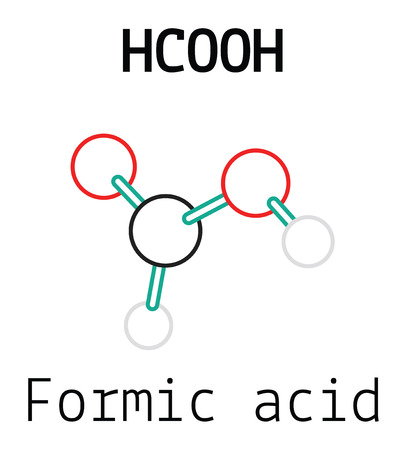 formic: HCOOH formic acid 3d molecule isolated on white