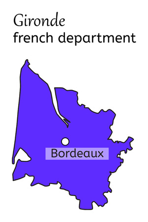 gironde: Gironde french department map on white in vector