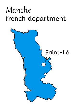 manche: Manche french department map on white Illustration