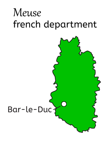 meuse: Meuse french department map on white